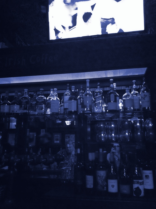 blue business at bar