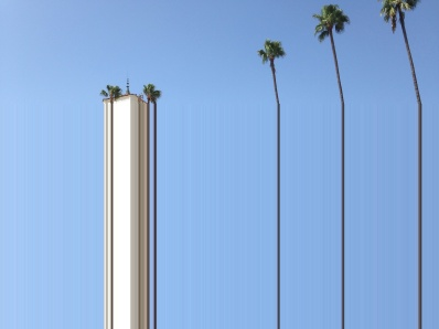 If the Union Station clock tower were much taller, and the palm trees were too.